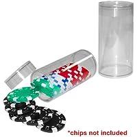Poker Chipストレージチューブ – 25チップ容量ポーカーチップストレージチューブ – 25チップ容量