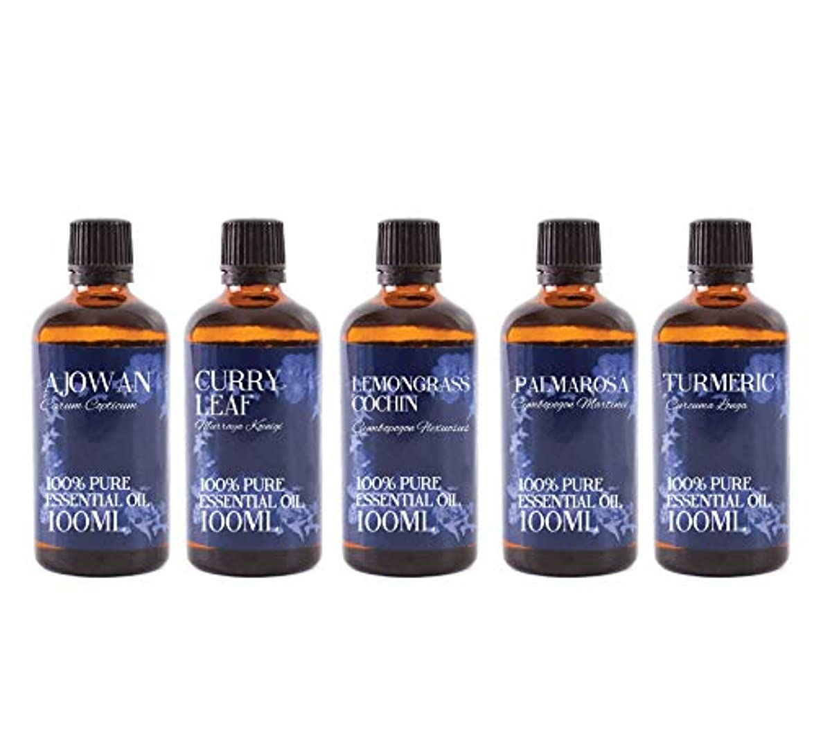 Mystic Moments | Gift Starter Pack of 5 x 100ml Essential Oils Of India