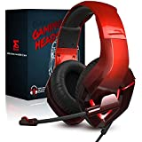 NEEDONE Stereo Sound PC Gaming Headset with Microphone, Over Ear PS4 PS5 Xbox Gaming Headphone with Noise Cancelling Mic, Mem