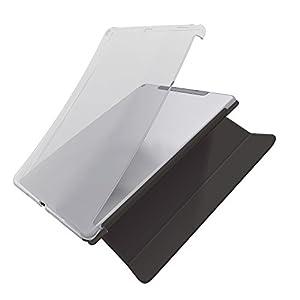 エレコム 9.7インチiPad 2017年モデル ソフトケース 純正スマートカバー対応 クリア TB-A179UCCR