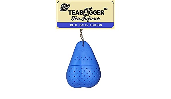 The TeaBagger Tea Infuser Funny Gag Gift Novelty Gifts For Men and Women Blue