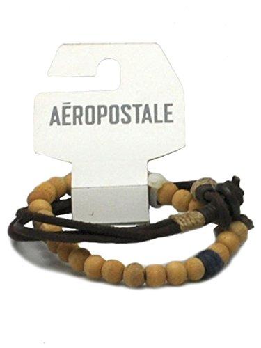 (エアロポステール) AEROPOSTALE エアロポステール メンズ ブレスレット アクセサリー 2連 [ブラウン] 並行輸入品