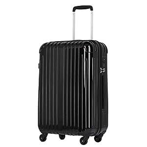 ラッキーパンダ スーツケース TY001 TSAロック ファスナータイプ 2年間修理保証 ブラック Mサイズ