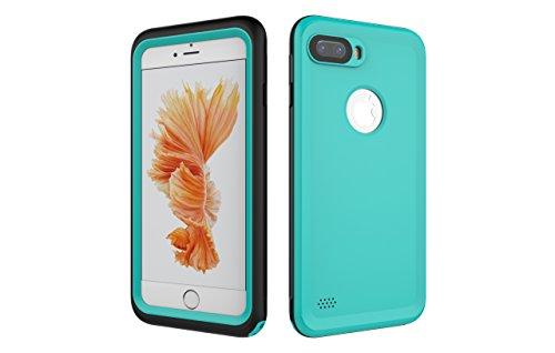 Iphone 7 Plus 防水電話ケースは、HBER IP68完全密閉水泳ダイビング水中防塵耐雪性の耐震ヘビーデューティケースカバーは、iphone7 plusのために敏感な画面タッチ指紋認証ロック解除をサポートしています (ミントグリーン)