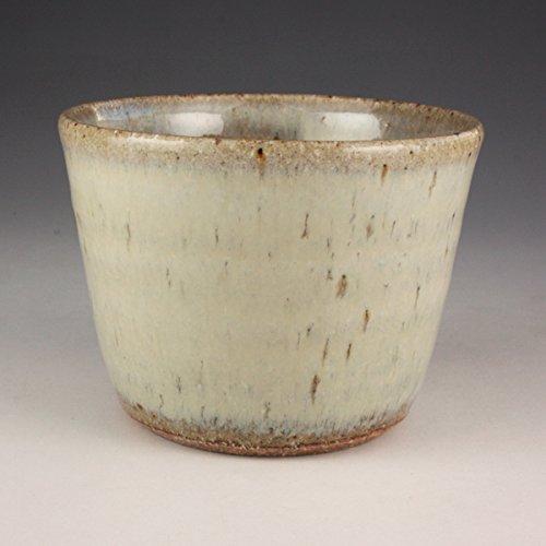 熊本千治(Chiharu Kumamoto) 斑唐津蕎麦猪口 唐津焼 陶器(直径約8cm 高さ約6cm)