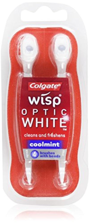Colgate 清涼ビーズ、Coolmint、4カウントのウィスプホワイトニングミニブラシ(3パック) 3パック Coolmint