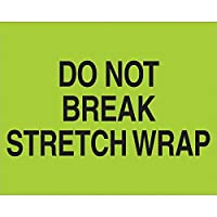 Tape Logic DL1103 Do Not Break Stretch Wrap Fluorescent Labels 8 x 10 Green (Pack of 500) [並行輸入品]