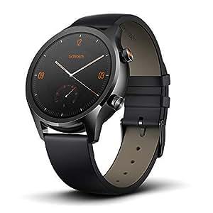 TicWatch C2 スマートウォッチ クラシック Wear OS by Google IP68防汗/防水 GPS搭載 腕時計 iPhone&Android対応 日本語対応 ブラック
