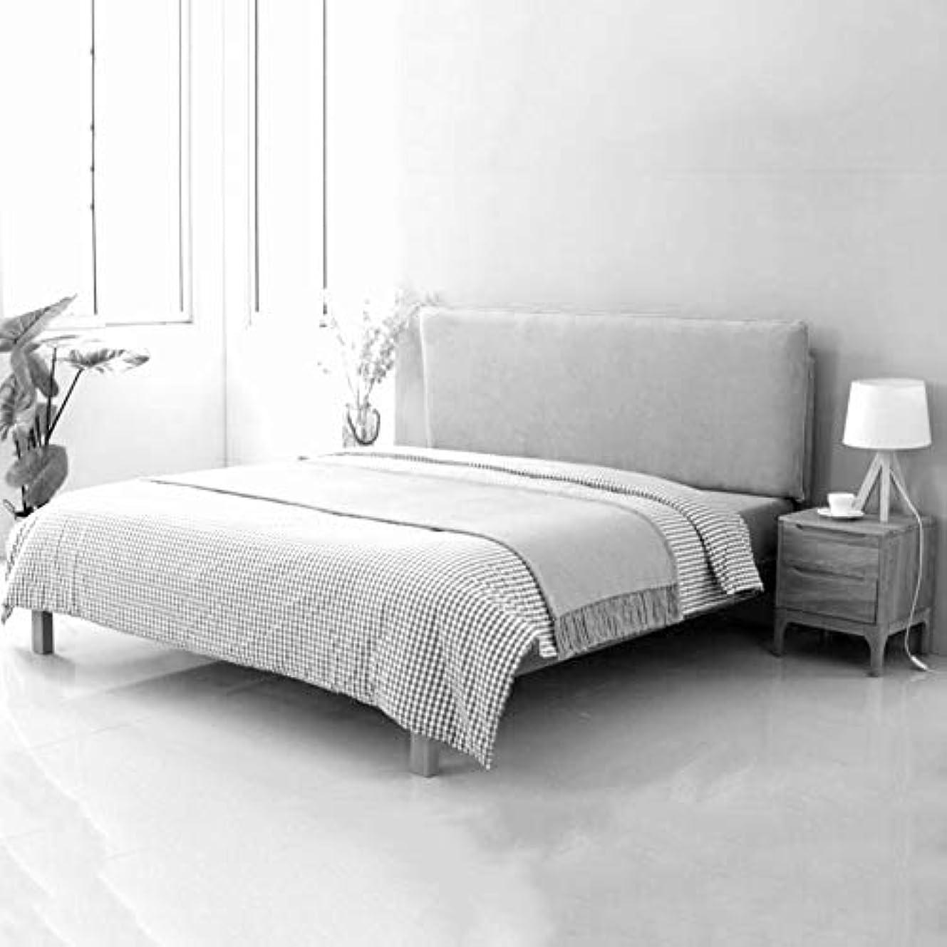 子豚背の高い出演者LIANGLIANG クションベッドの背もたれ ホームベッドルームダブルピープルエクストララッグバックサポートベッドの背もたれ洗える布、7色、4サイズ (色 : ベージュ, サイズ さいず : 123X66X10CM)