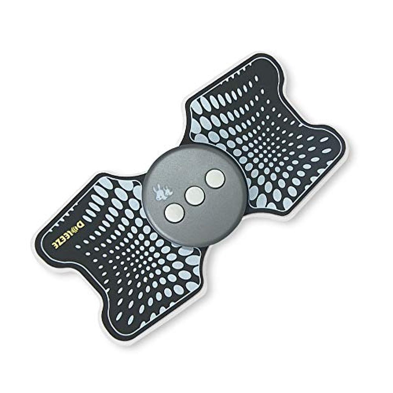 体系的にまろやかな安全なLekocミニマッサージャー 低周波治療器 9モード 十段階調整 USB充電式 筋肉 背中 足 子牛手 首 肩 腰 腹 全身用 軽量 携帯便利 家庭用 運動用 (ブラック)