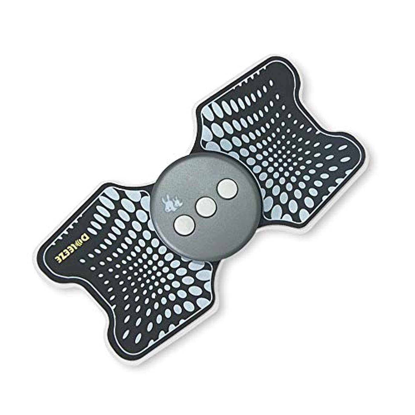 こっそりペレグリネーション知事Lekocミニマッサージャー 低周波治療器 9モード 十段階調整 USB充電式 筋肉 背中 足 子牛手 首 肩 腰 腹 全身用 軽量 携帯便利 家庭用 運動用 (ブラック)
