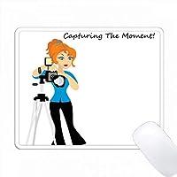 写真を撮っている写真家 PC Mouse Pad パソコン マウスパッド