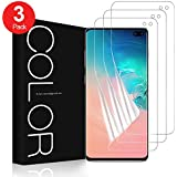 """G-Color Screen Protector for Galaxy S10 Plus, 6.4"""" S10 Plus/S10+ Wet Applied TPU Film Anti-Bubble Screen Protector for Samsung Galaxy S10 Plus (Case Friendly, 3 Pack)"""