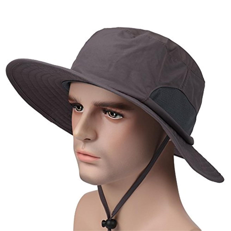 保護する資料村多機能アウトドアカウボーイハットWide BrimキャップSunブロック釣り帽子upf50 +