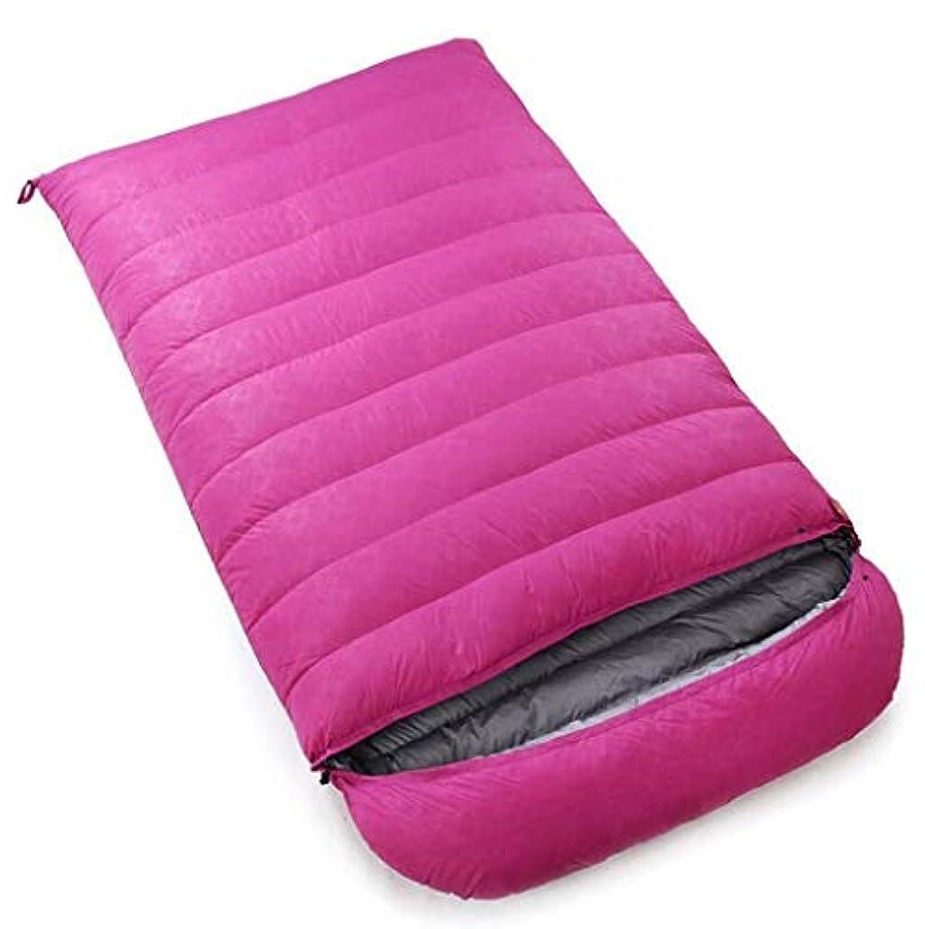 マリン誤絶望アウトドアアダルトキャンプ用寝袋フォーシーズン登山封筒ダブルウルトラライトダウン寝袋 (Capacity : 5.5kg, Color : Pink)