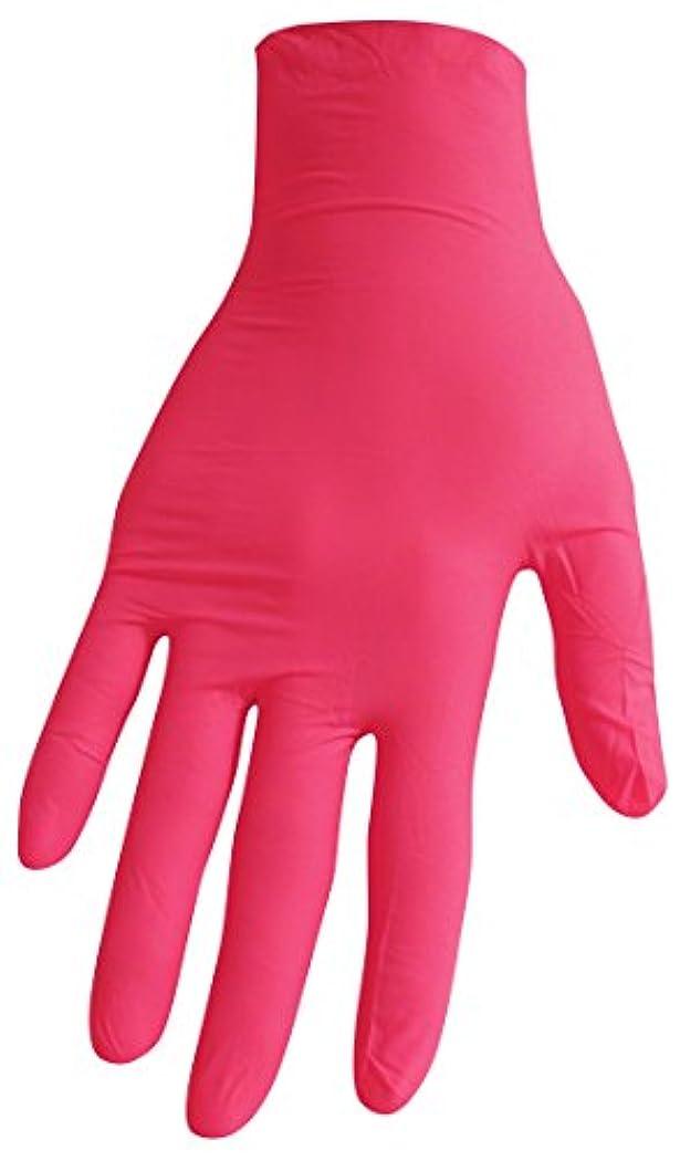 追加するどんよりした疎外【箱なし発送】ニトリル極薄手袋 S?M?L 選べる6色(100枚入) (S, ローズピンク)