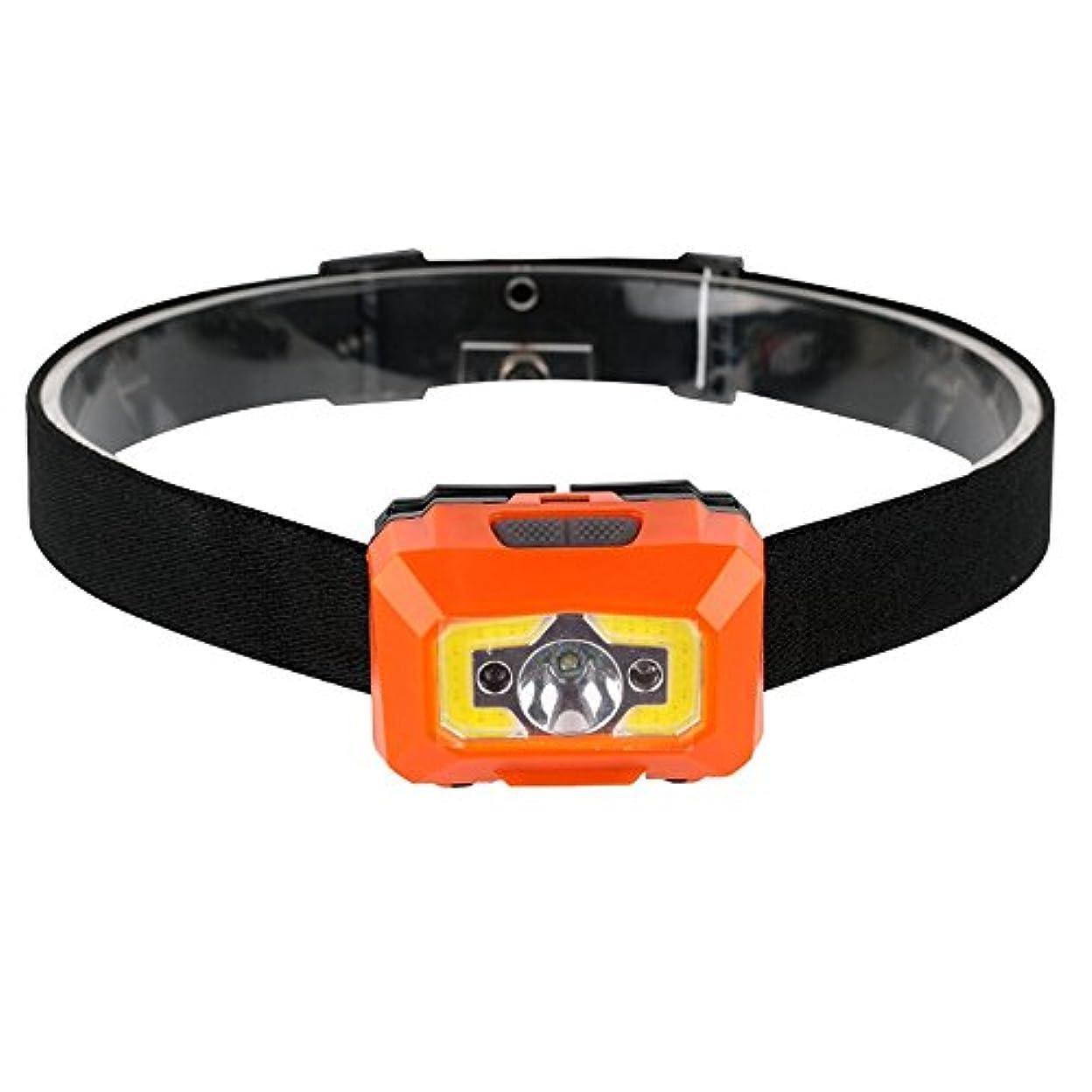 ブランド名市民到着するMUTANG USBスマート高速充電ヘッドランプLED誘導ヘッドライトクランプキャップ充電釣り防水キャップライトミニライト調整可能な白、赤、オレンジ