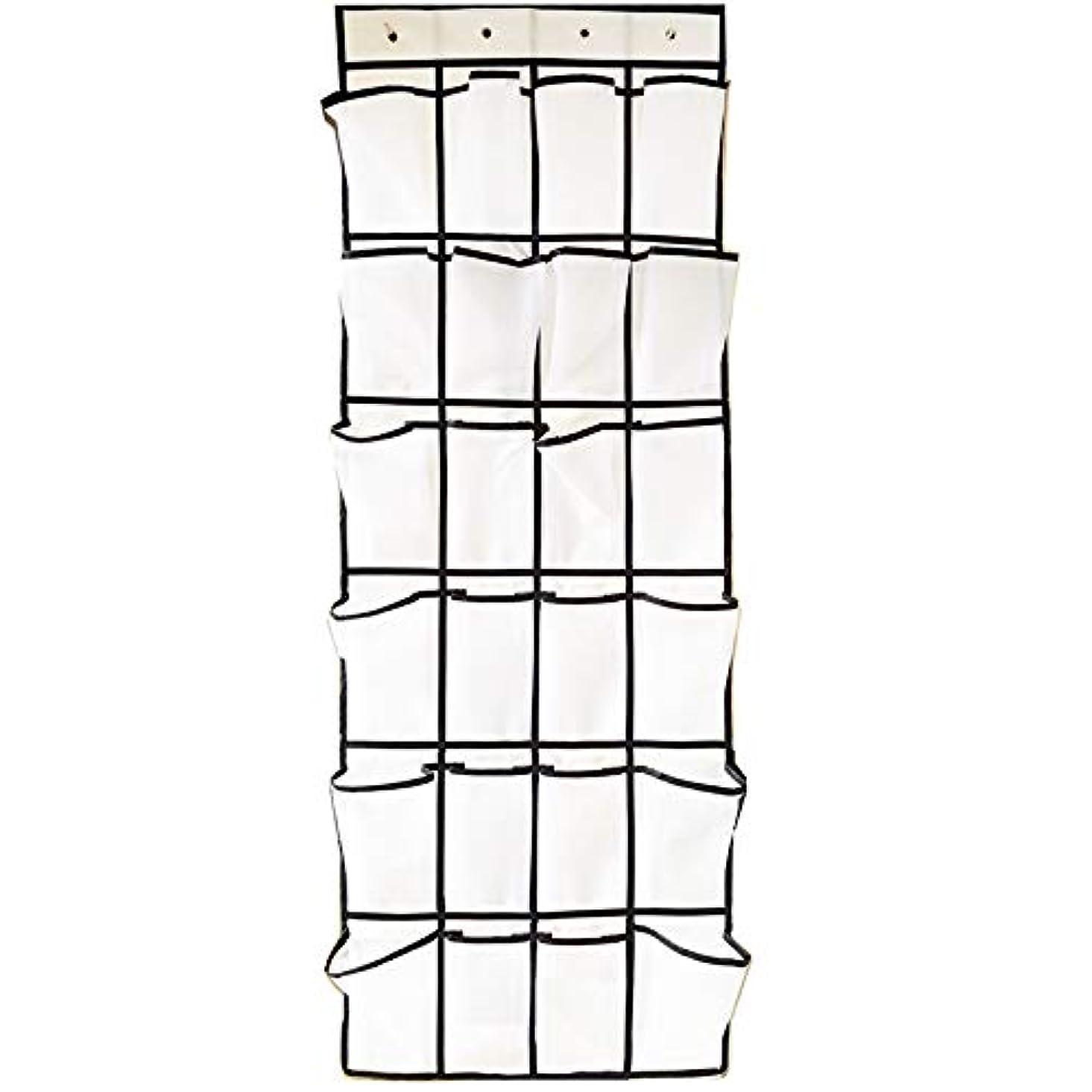 遡る計算するステレオドアの上の靴オーガナイザー(24ポケット)クローゼットオーガナイザーとスペースセーバー、厚いオックスフォード生地、頑丈なハングフックをぶら下げ