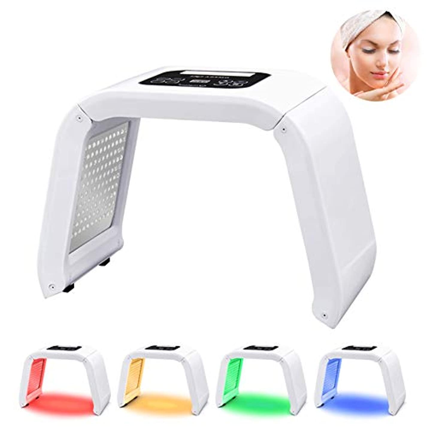 知覚的足音空虚PDT 4-In-1 LEDライト光線療法電気スキンケア美容装置家庭用多機能体の美容スキンケア分光器のマシン女性のための完璧なギフト
