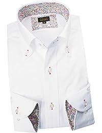 (スタイルワークス) メンズ長袖ワイシャツ チェック | 白