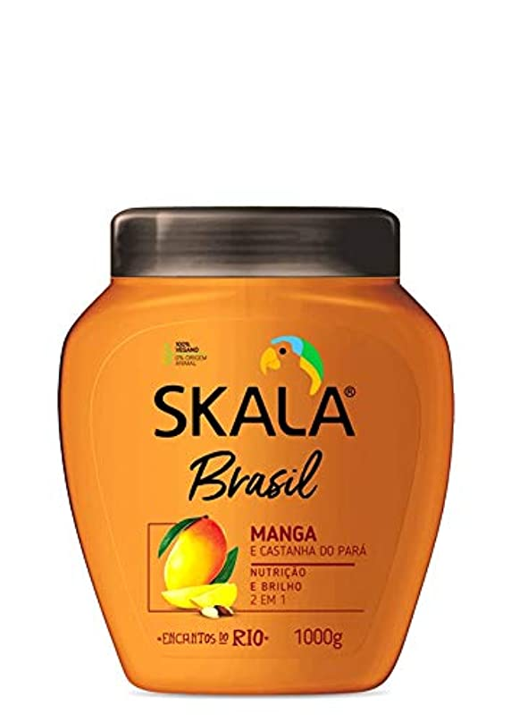 ピッチ魅力竜巻Skala Brasil スカラブラジル マンゴー&パラ栗 オールヘア用 2イン1 トリートメントクリーム 1kg