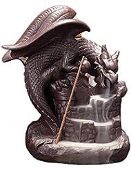 芳香器?アロマバーナー 繊細な中国のドラゴンの滝プテロサウルス逆流香バーナー家の装飾セラミックス装飾品香ベース 芳香器?アロマバーナー