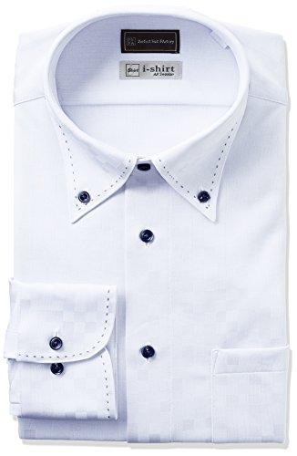 (ピーエスエフエー) P.S.FA(ピーエスエフエー) i-shirt 完全ノーアイロン 長袖 ボタンダウンアイシャツ M151180013-15 81 サックス M(首回り39cm×82cm)