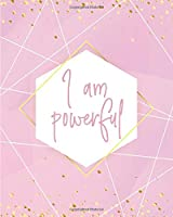 I AM POWERFUL NOTEBOOK: Lined Journal - 150 Pages - 8x10 inch (ABSTRACT WAVE INSPO JOURNALS)