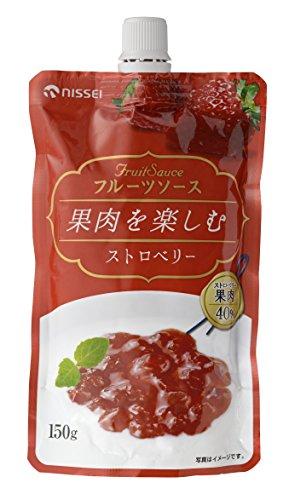 日世 果肉を楽しむフルーツソース ストロベリー 150g