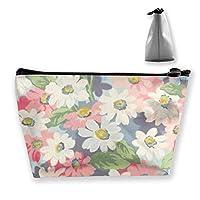 花柄 化粧ポーチ メイクポーチ 機能的 大容量 化粧品収納 小物入れ 普段使い 出張 旅行 メイク ブラシ バッグ 化粧バッグ