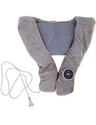 首肩マッサージャー枕ショール、加熱指圧バックマッサージ機ディープニーディングティッシュマッサージ用筋肉痛テンションケア