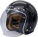ダムトラックス(DAMMTRAX) バイクヘルメット ジェット フラッパージェット ファイナリー パールブラック レディースサイズ (56cm-57cm未満)