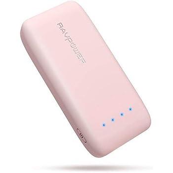 RAVPower 6700mAh モバイルバッテリー 急速充電 (最小 最軽量 /2018年11月時点) iPhone/Andorid 等対応 携帯充電器 ポータブル充電器 【18ヶ月間安心保証】 iSmart2.0機能搭載 PSE認証済み RP-PB060 (桜ピンク)