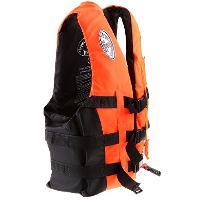 SONONIA  水泳 漂流用 ライフジャケット ベスト サバイバル スーツ 全3色3サイズ選ぶ - オレンジ, M
