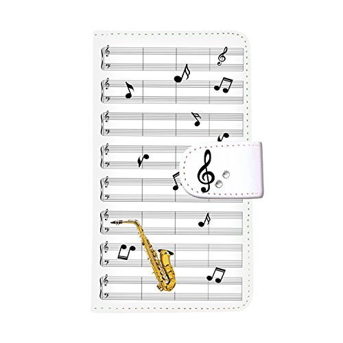 HUAWEI P10(4) 手帳型ケース smh-145 (E) おしゃれ かわいい カードポケット 携帯カバー スタンド機能 財布型カバー スマホケース マグネット ストラップ デコケース デコ スワロフスキー 全機種対応 送料無料 カバー スマホカバー ケース 人気 ピアノ 音楽 音符 楽譜 楽器 サックス トランペット バイオリン ギター