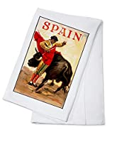 スペイン-マタドールとブル(アーティスト:Reus)c. 1944-ビンテージアートワーク Cotton Towel LANT-88869-TL