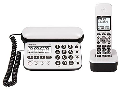 パイオニア TF-SD15S デジタルコードレス電話機 子機1台付き/迷惑電話防止 ピュアホワイト TF-SD15S-PW 【...