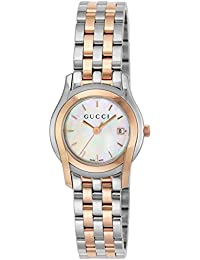 [グッチ]GUCCI 腕時計 Gクラス ホワイトパール文字盤 ステンレス/ステンレス(PGPVD) ケース YA055538 レディース 【並行輸入品】