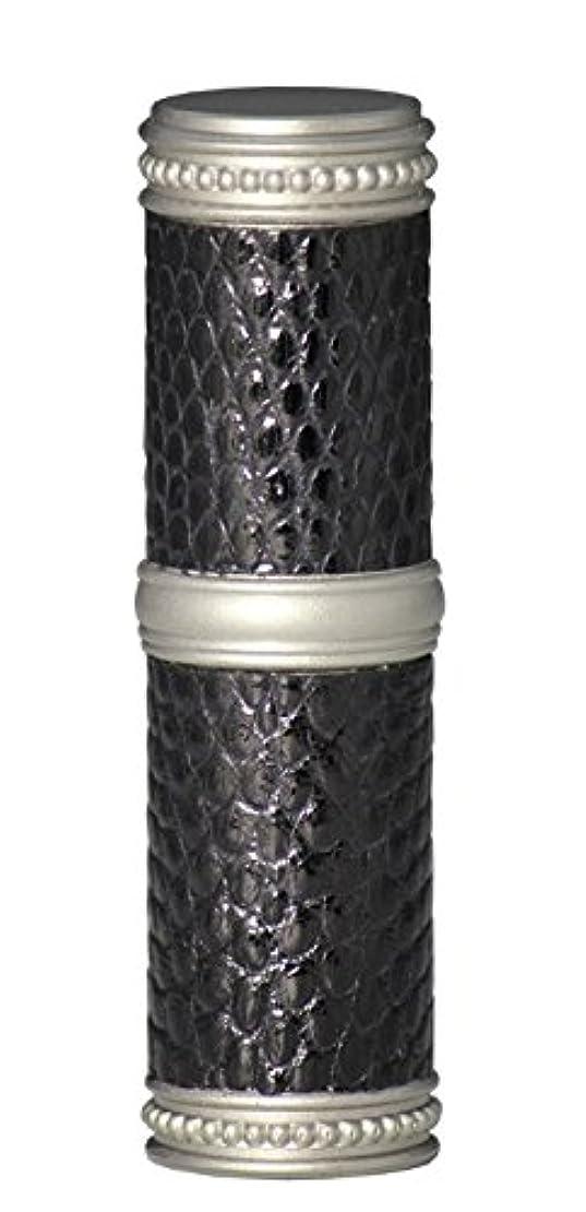 ネクタイ契約するリマヒロセアトマイザー 手作りブラスアトマイザー リザード本革巻き 95203 MSBK (ブラスリザード マットシルバー/ブラック)