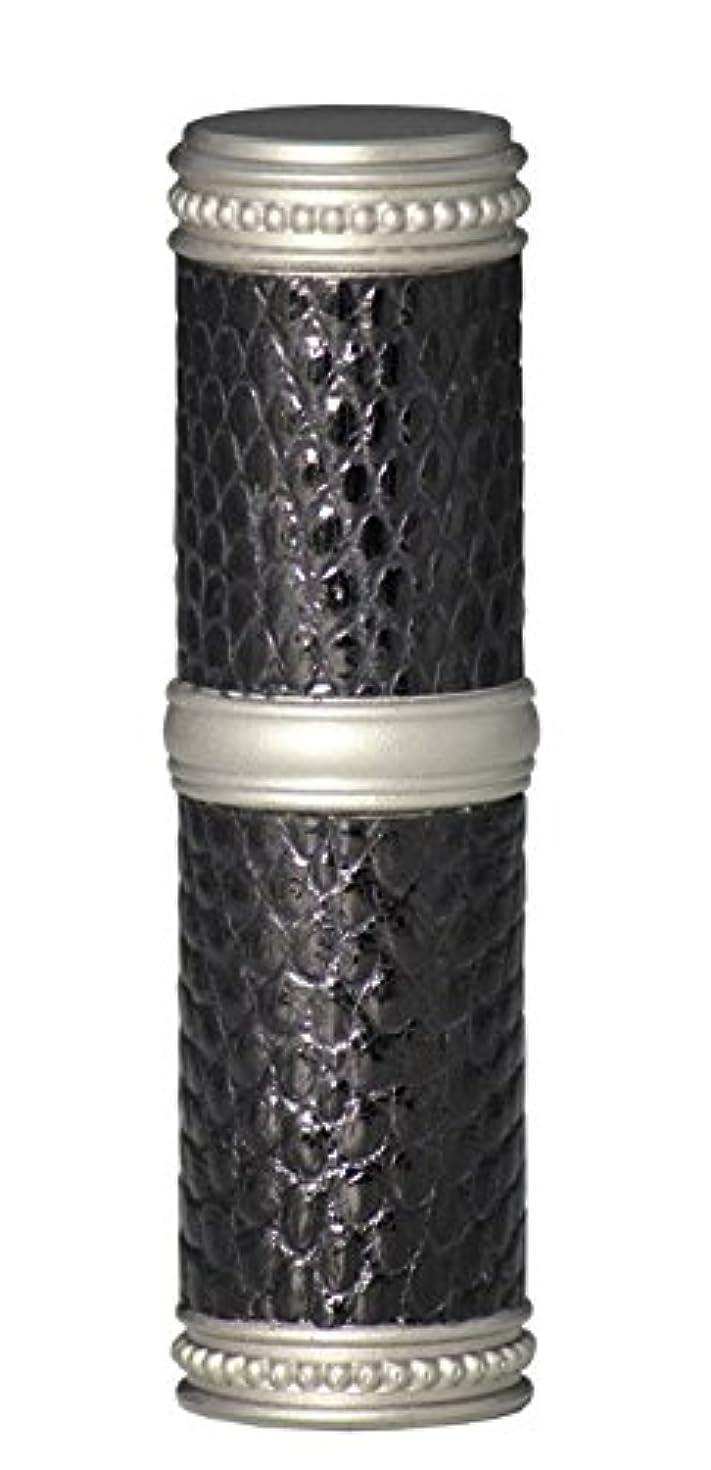 枢機卿いう余裕があるヒロセアトマイザー 手作りブラスアトマイザー リザード本革巻き 95203 MSBK (ブラスリザード マットシルバー/ブラック)