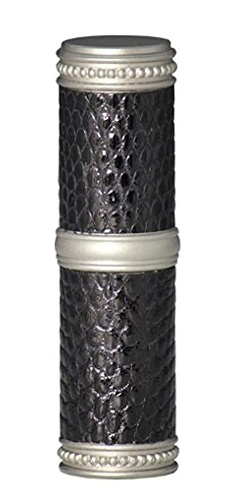 被るどれでもコーチヒロセアトマイザー 手作りブラスアトマイザー リザード本革巻き 95203 MSBK (ブラスリザード マットシルバー/ブラック)
