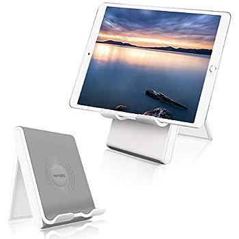 折り畳み式タブレット スタンド 4-12.9インチに対応 スマホ スタンド 角度調整可能iPadスタンド 折りたたみ式 角度調整可能 滑り止めゴム付き iPad Pro,iPhone 11 Pro,MaxXperia,Huawei mediapad,Galaxy等のスマホやタブレットに適用 ABS素材