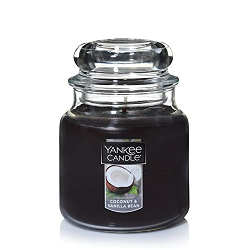 Yankee Candle Coconut & Vanilla Bean , Food & Spice香り Medium Jar Candle ブラウン 1284531-YC