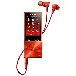 SONY ウォークマン A20シリーズ  16GB ハイレゾ音源対応 ノイズキャンセリング機能搭載イヤホン付属 2015年モデル シナバーレッド NW-A25HN RM