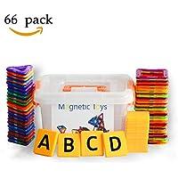積み木 知育玩具 磁気おもちゃ お祝いプレゼント子供おもちゃ 創造力と想像力を育てる (66ピース)