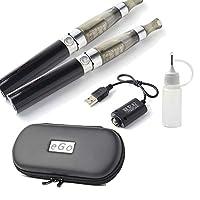 電子タバコ 本体 2本セット CE4 USB充電ケーブル2本 注入ボトル ケース 取扱説明書 ego VAPE 電子たばこ 禁煙グッズ 充電 ブラック EGO-CE4SET-BK
