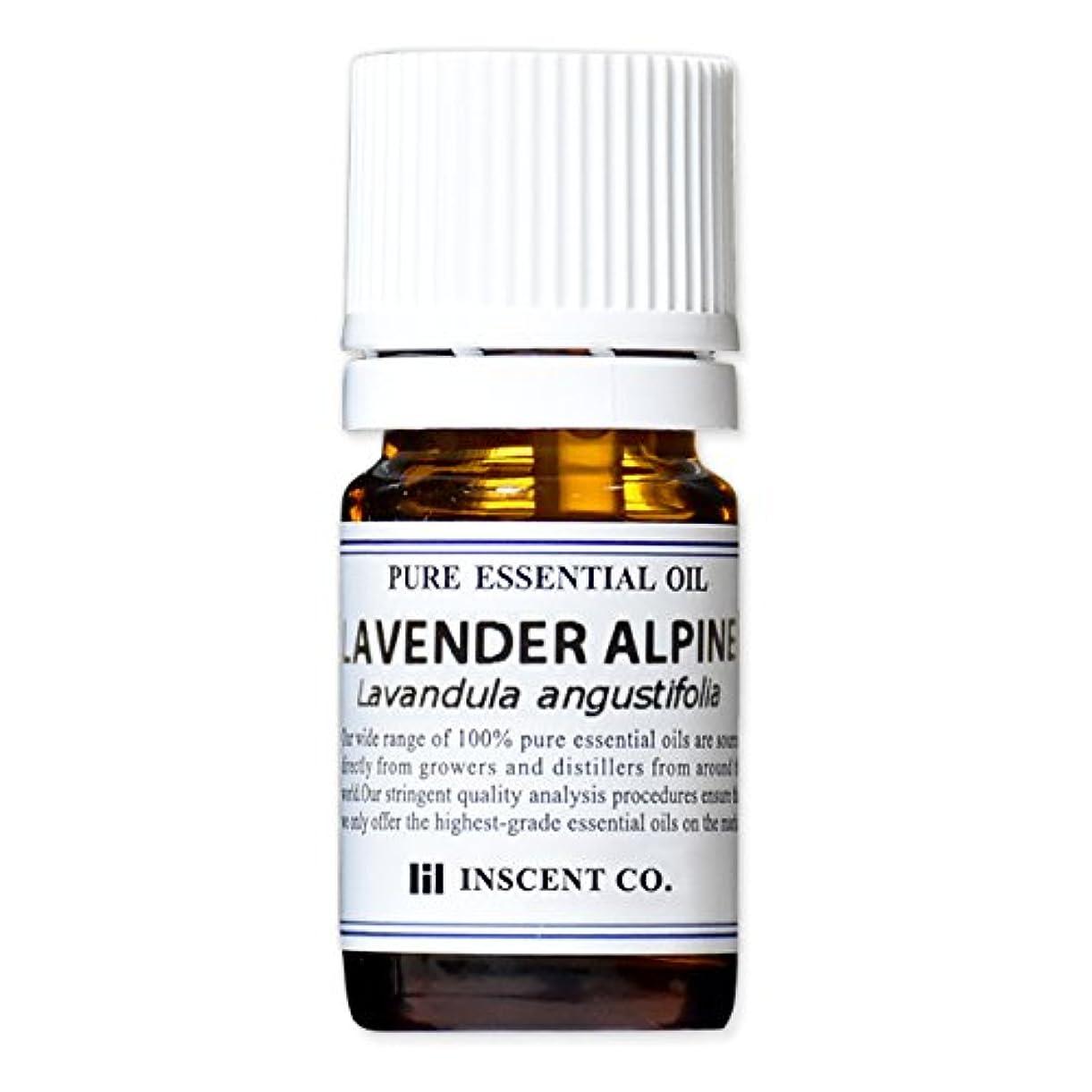 興味囲まれた特異性ラベンダー・アルパイン 5ml (真正ラベンダー) インセント アロマオイル AEAJ 表示基準適合認定精油
