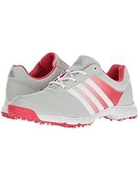 (アディダス) adidas レディースゴルフシューズ?靴 Tech Response Clear Grey/Ftwr White/Core Pink 5.5 (22.5cm) B - Medium