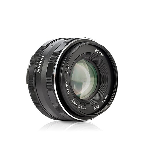 Meike mk-50mm F / 2.0手動フォーカス大口径固定レンズWork for aps-c Nikon j1/ j2/ j3/ j4/ j5V1/ v2/ v3/ v4カメラ