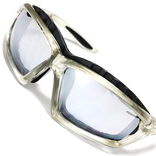 グレー×シルバー 伊達メガネ 伊達眼鏡 だてめがね バイク ...